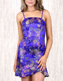 STYLE STATE Blue Oriental Floral Print Dress Size 12 & 14