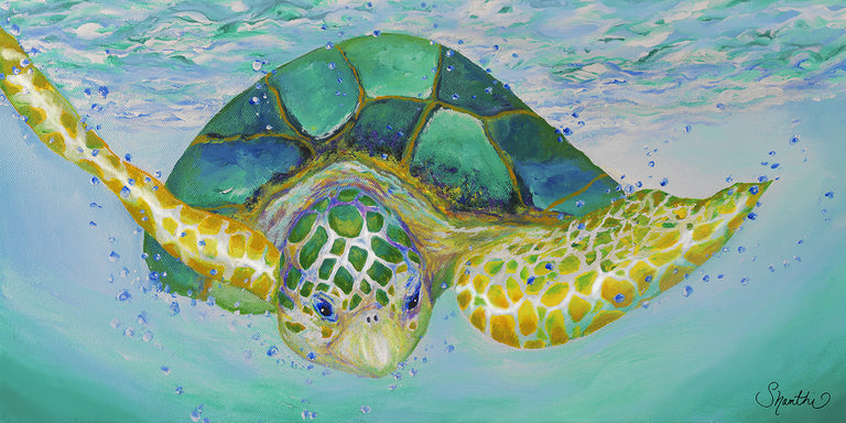 green sea turtle, green nursery ideas, kids room ocean, beach themed room for kids, canvas nursery pictures, sea turtle bathroom decor, sea turtle painting