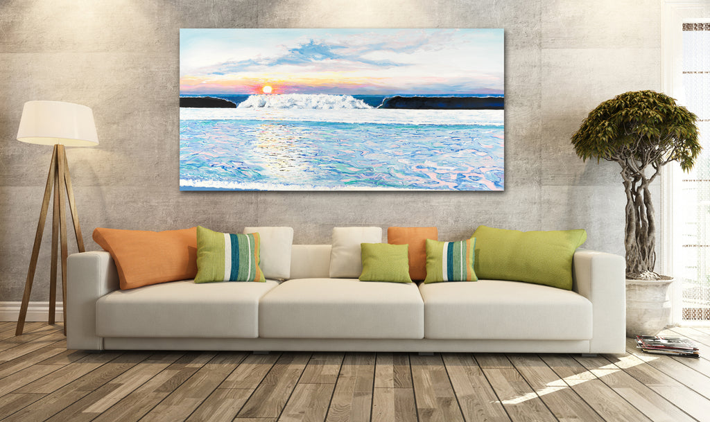 beautiful sunrise, morning sunrise, beach themed family room ideas, best interior design, beach decor, sunrise painting, sunrise pictures