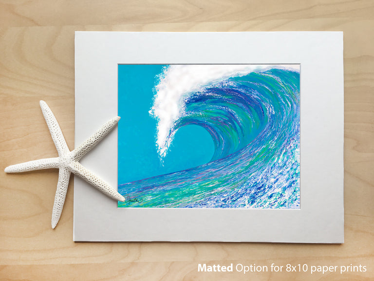 big wave art, wave prints, the wave painting, beach art prints