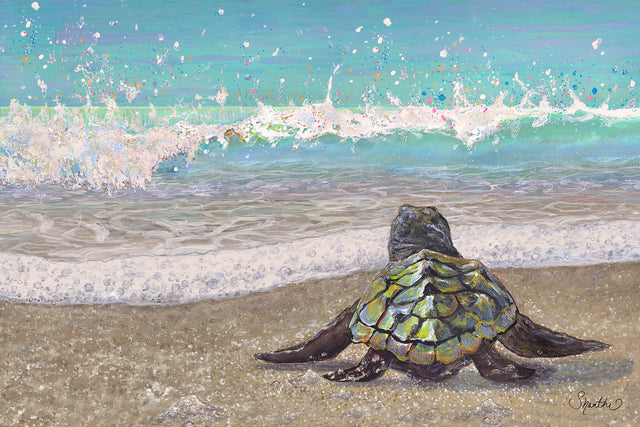 sea turtle painting, sea turtle wall decor, sea turtle nursery decor, sea creature nursery, sea turtle art prints, baby sea turtle bathroom decor