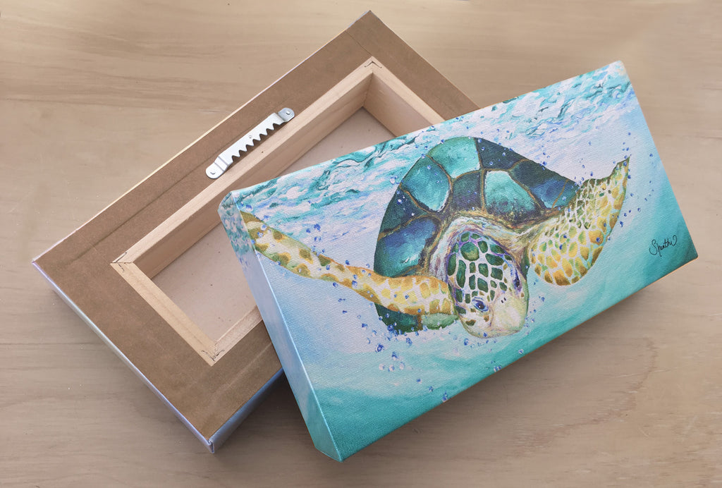 sea turtle canvas art print, sea turtle wall art, sea turtle nursery art