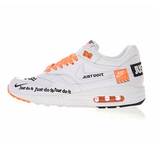 online store 8ca9d f044f Nike Air Max 1 Just Do It Men's and Women's Running Shoes , White, Shock  Absorbing Breathable Lightweight 917691 100