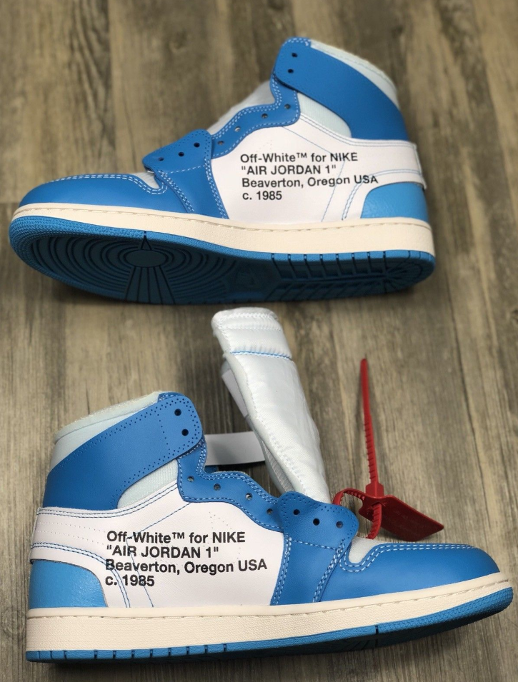 sneakers for cheap a42c6 c4334 Authentic Air Jordan 1 x OFF-WHITE UNC