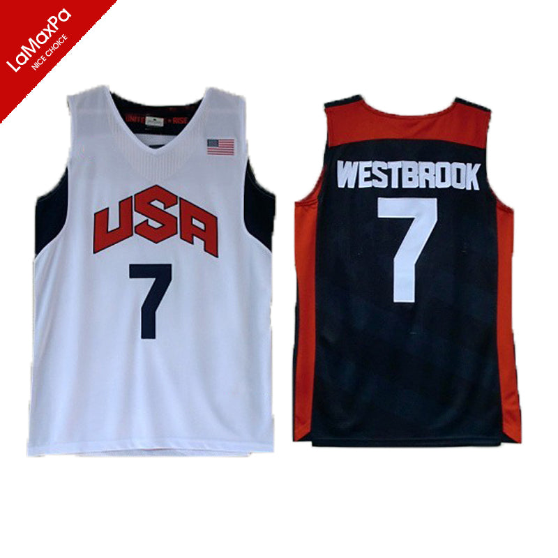 buy popular 66b3b 32c0e Team 2012 USA Basketball Jerseys James Harden Jersey Kyrie Irving Paul  Anthony Davis Kevin Durant Russell Westbrook