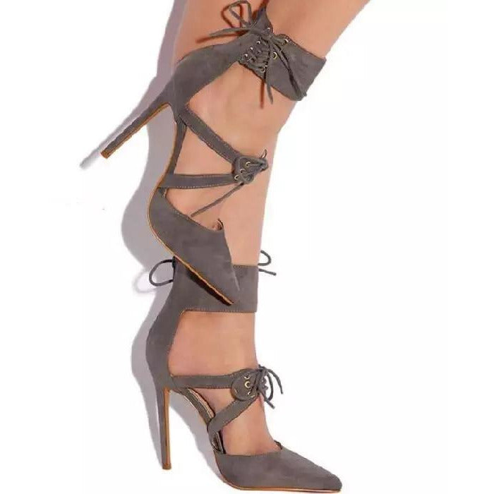 Lace Up High Heels