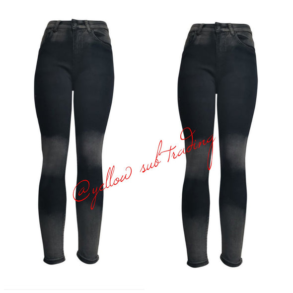 YST-2453 Black Jeans - YELLOW SUB TRADING