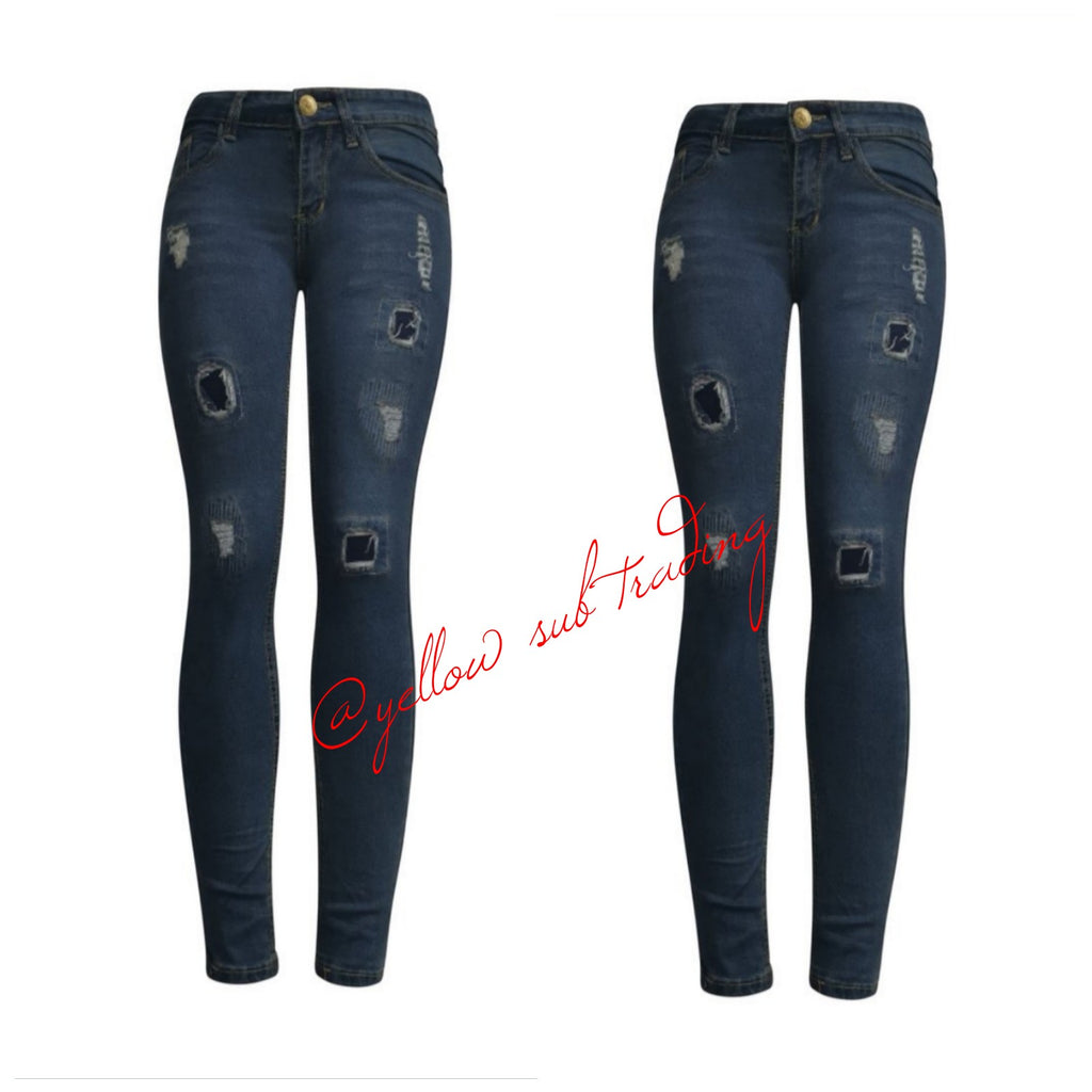 YST-1038 skinny jeans - YELLOW SUB TRADING