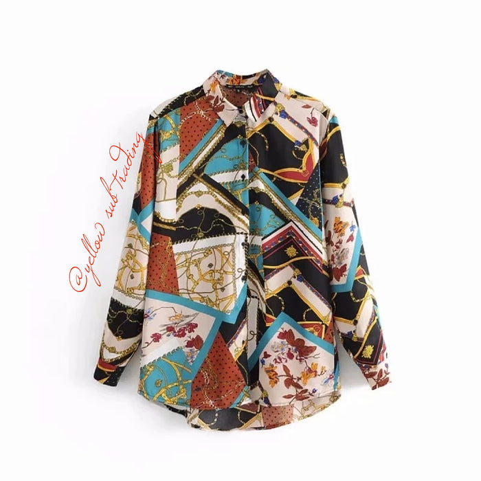 Colourful Print Blouse