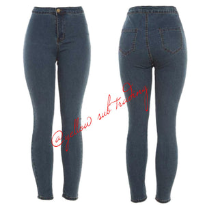 YST-1588 High Waisted jeans - YELLOW SUB TRADING