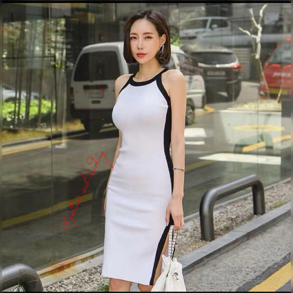 Sleeveless Sweater Dress - YELLOW SUB TRADING
