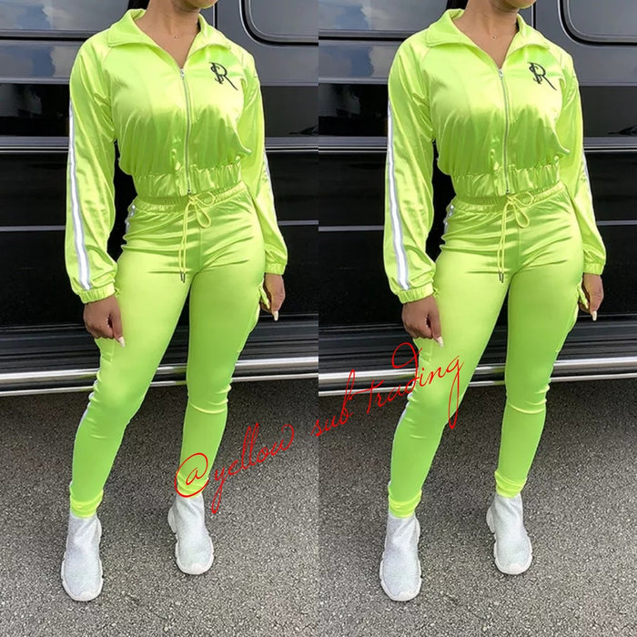 Satin Sporty Tracksuits