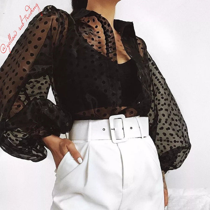 See-through Full Sleeve Top