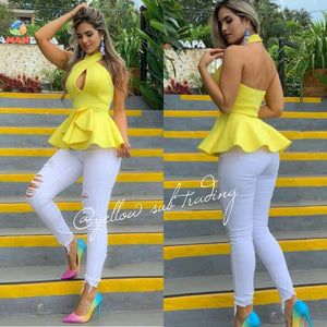 Backless Publem Top - YELLOW SUB TRADING
