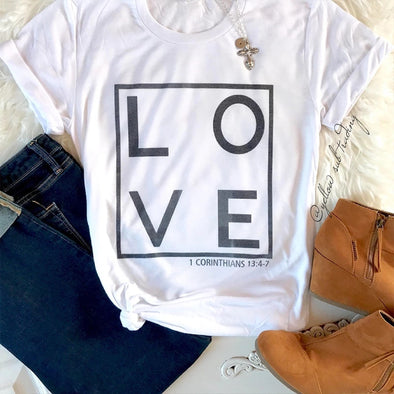 Love Print T-shirt - YELLOW SUB TRADING