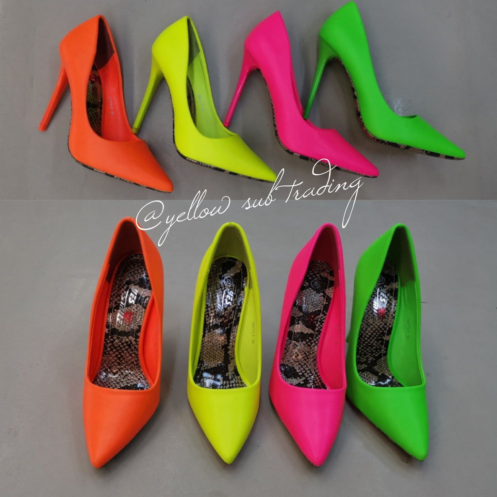Pointed Toe Stiletto High Heel  - YELLOW SUB TRADING