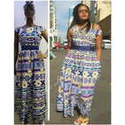 Ndebele Print Ankara Dress - YELLOW SUB TRADING