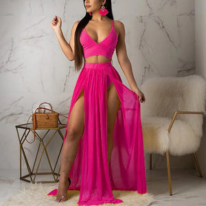 Side Slit Swimming Two Piece