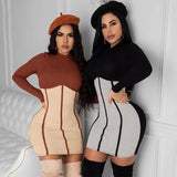 Knit Sexy Bodycon Dres