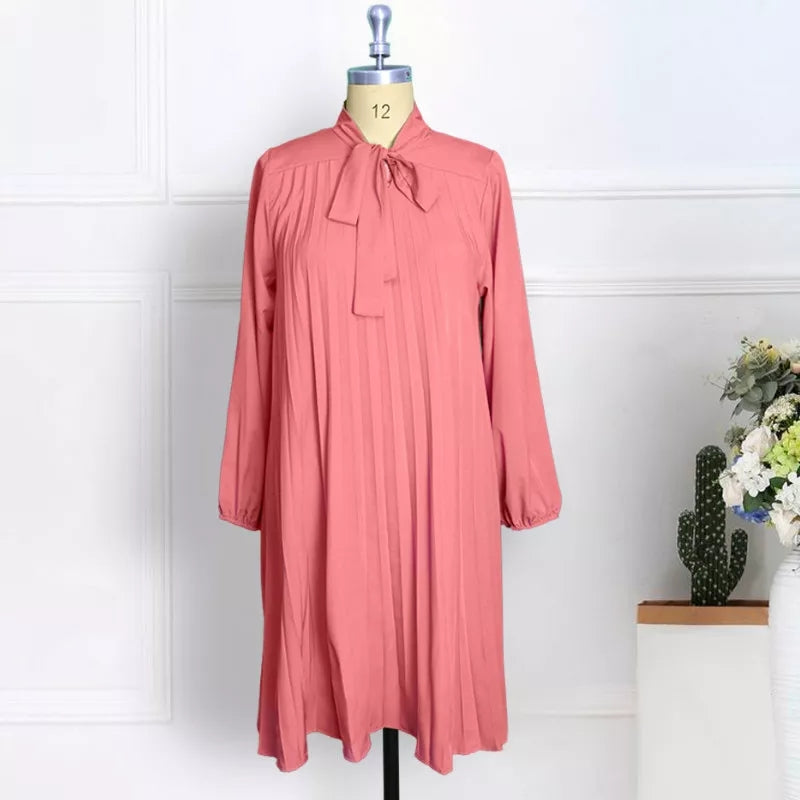 Plus Size Pleated Dress