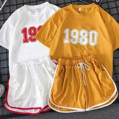 1980s Printing Two Piece Set