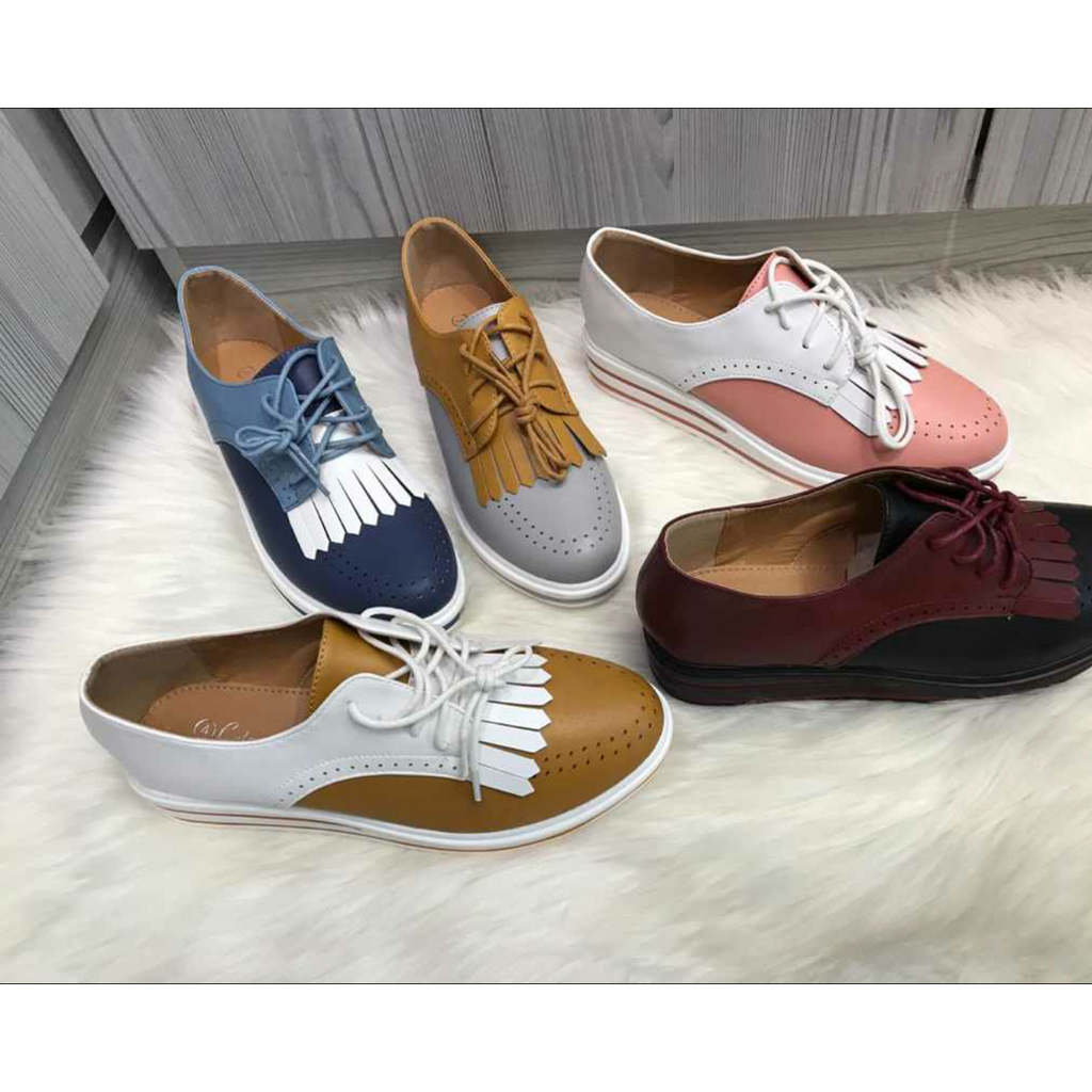Platform Lace-Up  Shoes