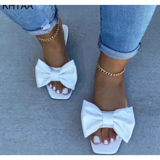 Summer Bow Tie Slippers