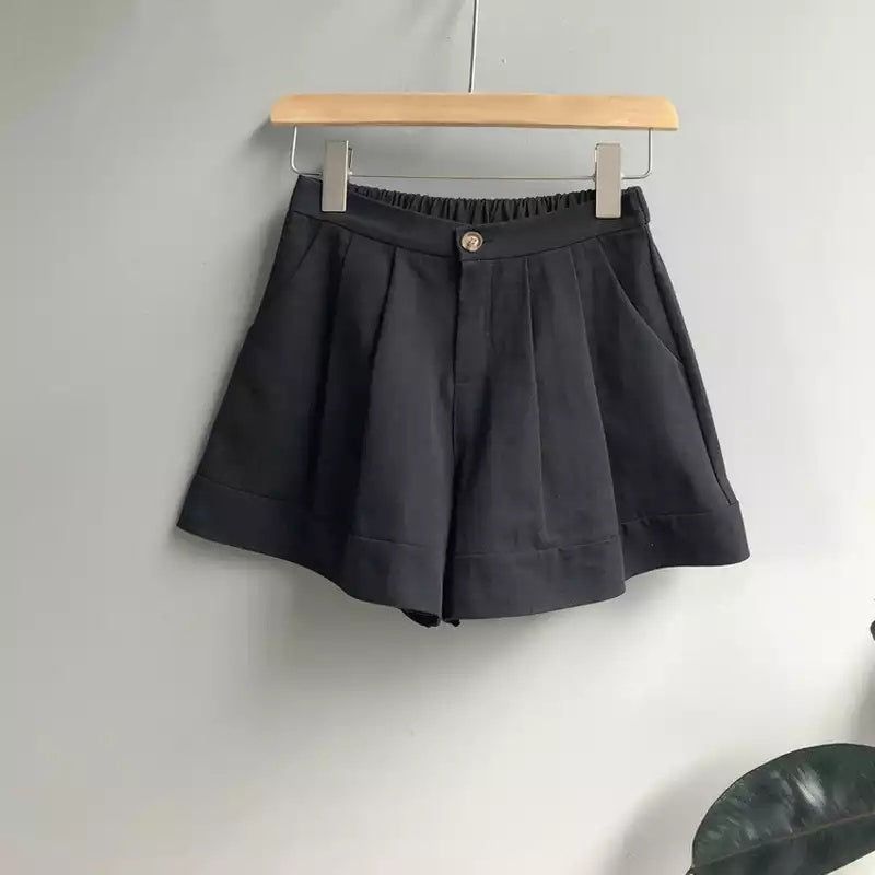 High waisted cargo bamshort