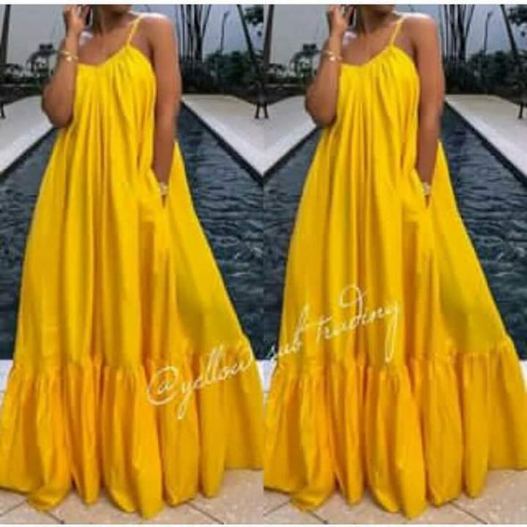 Plus-size Long Boho Dress  - YELLOW SUB TRADING