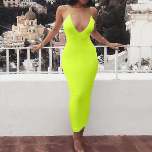Sleeve less bodycon dress - YELLOW SUB TRADING