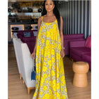 Sleeveless Floral Maxi - YELLOW SUB TRADING