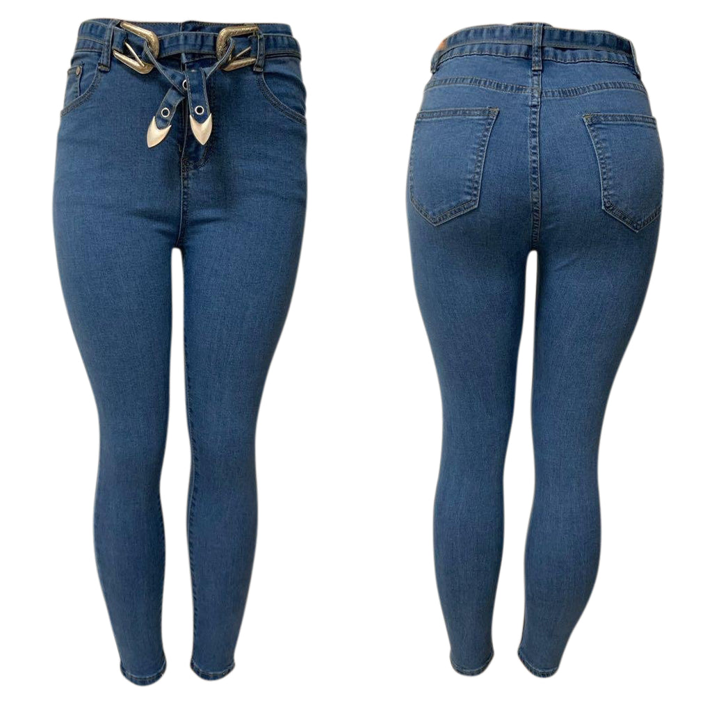 High Waisted skinny jeans.