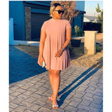 Glitter Short Sleeve Mini Bubble Dress