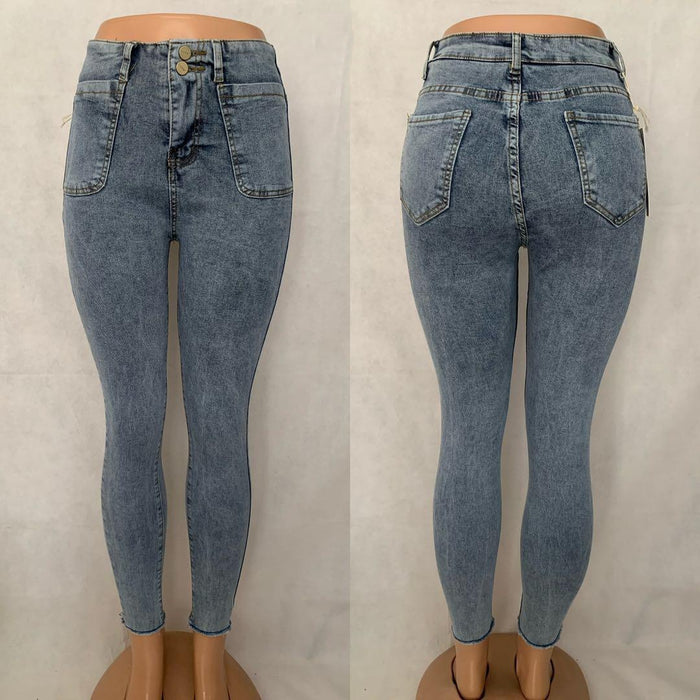 Two Button High Waisted skinny jeans