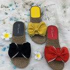 bow flat bottom fairy beach sandals