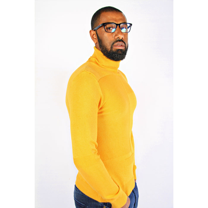 Men's Polo Neck Sweater