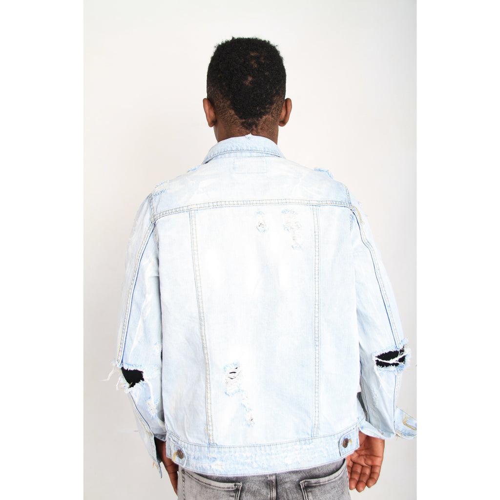Distressed Men's Denim Jacket