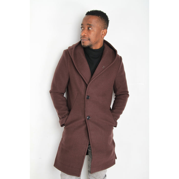 Hooded Long Trench Coat