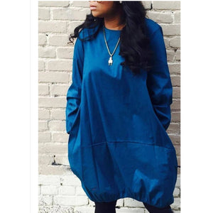 Denim Bubble Dress - YELLOW SUB TRADING
