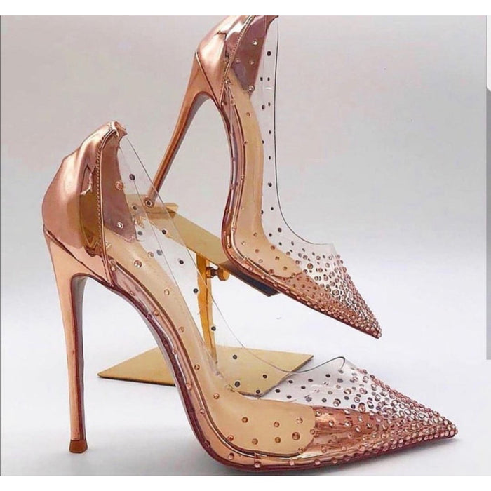 Transparent Glitter Heel