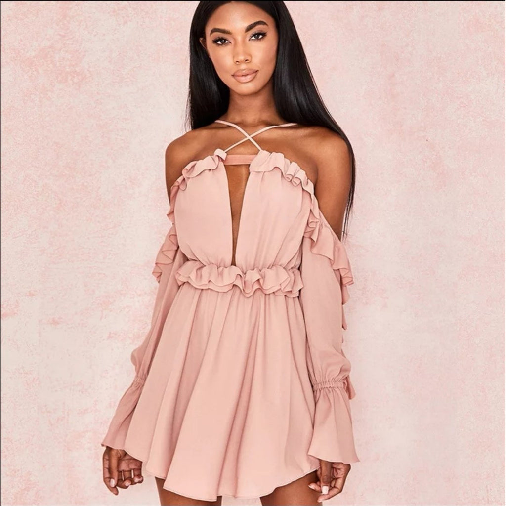 Ruffles Sexy Off the Shoulder Dress