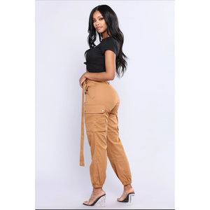 High Waisted Cargo Pants - YELLOW SUB TRADING