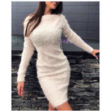 Fluffy Bodycon Dress