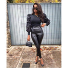 Pu Faux Leather Pant