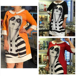Cartoon Printed Dress
