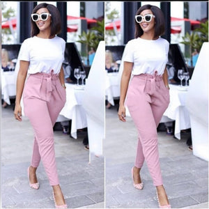 Belted High Waisted Pant