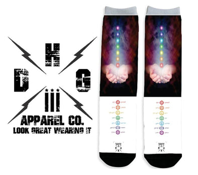Seven Chakra Sublimated Socks - DogHouse Graphix,LLC