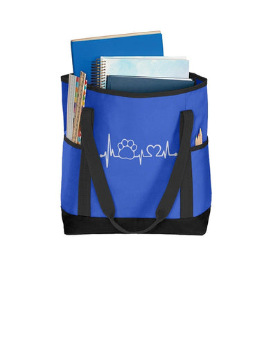 My Heartbeat - Port Authority Daily Tote - DogHouse Graphix,LLC