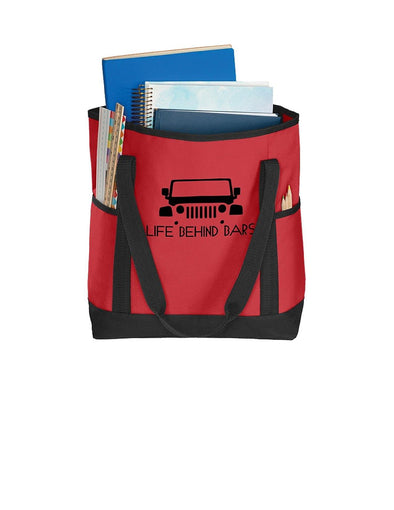 Life Behind Bars - Port Authority Daily Tote - DogHouse Graphix,LLC