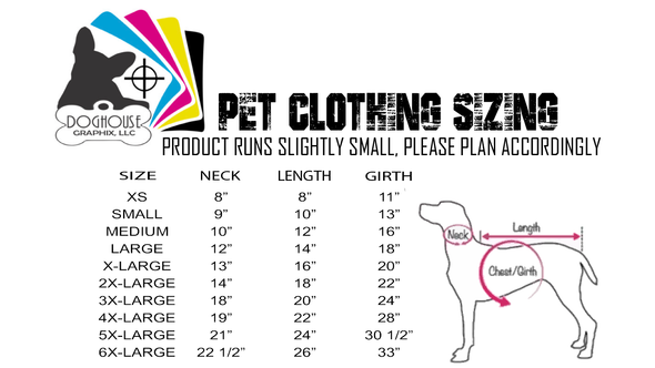 Stay At Home Guard Dog Pet Shirt - DogHouse Graphix,LLC